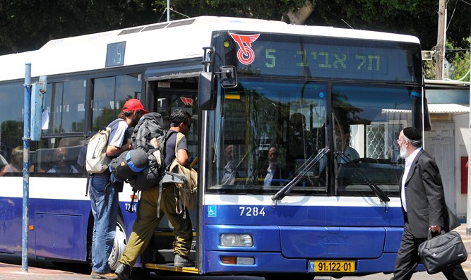 Bus in Herzliya (illustration)