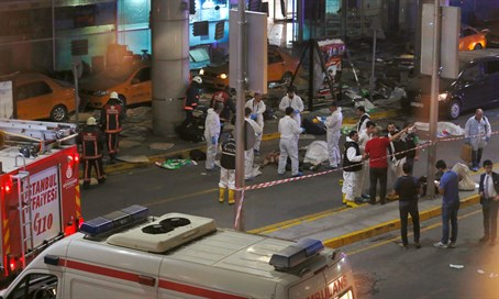 Site of Ataturk Airport attack
