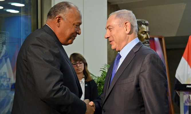 Prime Minister Binyamin Netanyahu and Egyptian Foreign Minister Sameh Shoukry