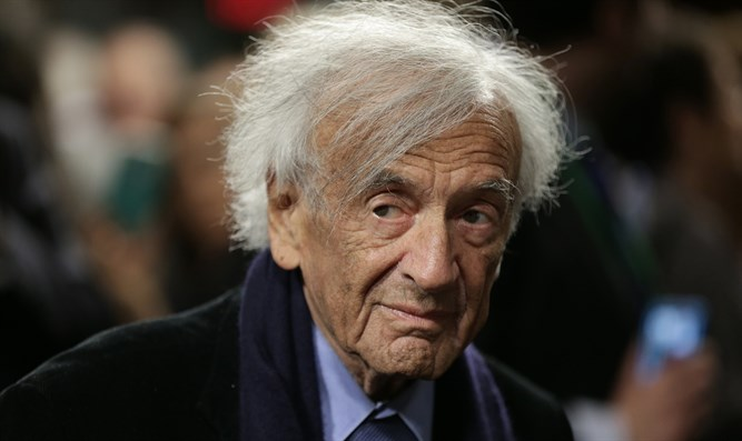 Wiesel arriving for a discussion on the Iran nuclear deal