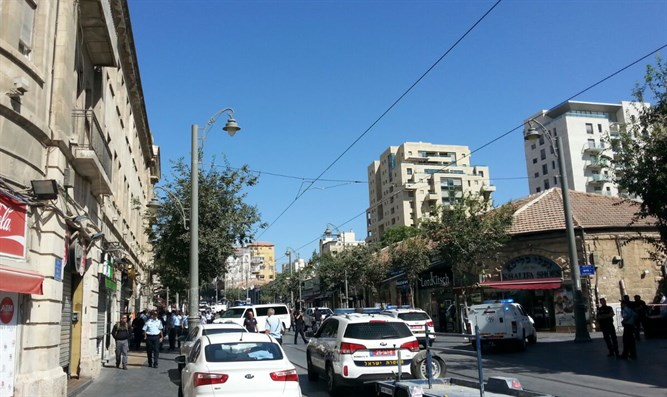 Scene of attempted bombing in Jerusalem