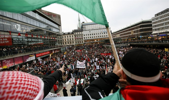 Anti-Israel protest in Stockhold, Sweden