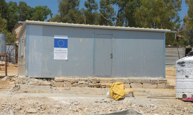 EU builds illegal Palestinian homes - next to Israeli town
