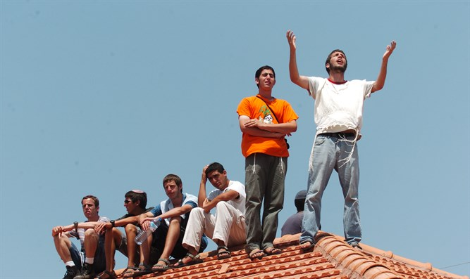 Teens from Gush Katif (file)
