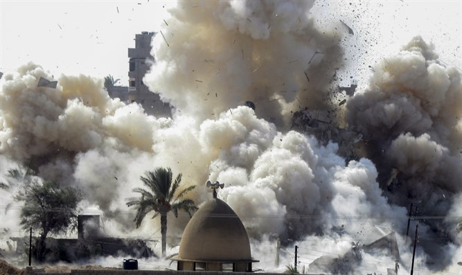 Egypt destroys homes in the Sinai (Illustration)