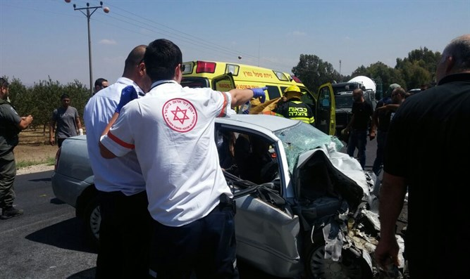 Accident in Jezreel Valley (archive)