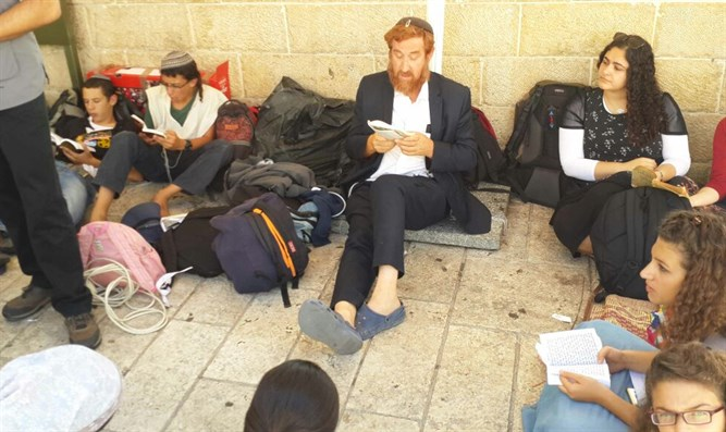 MK Yehuda Glick at the entrance of the Temple Mount