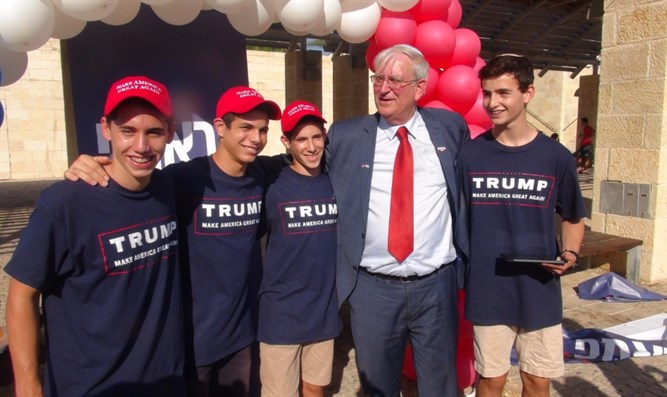 Zell with young Trump campaigners