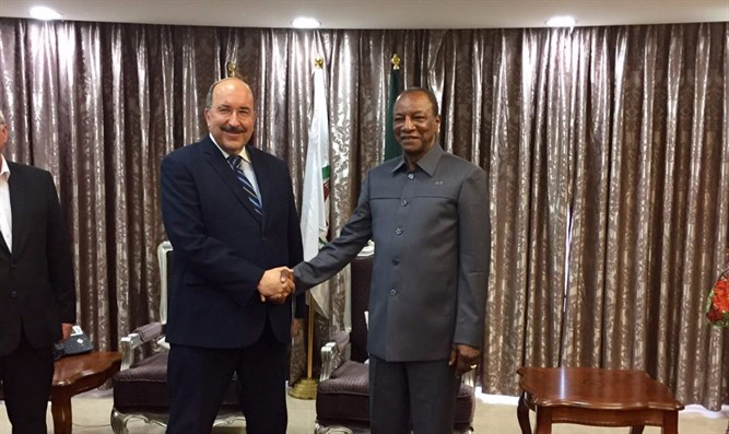 Dore Gold with Guinean President Conde