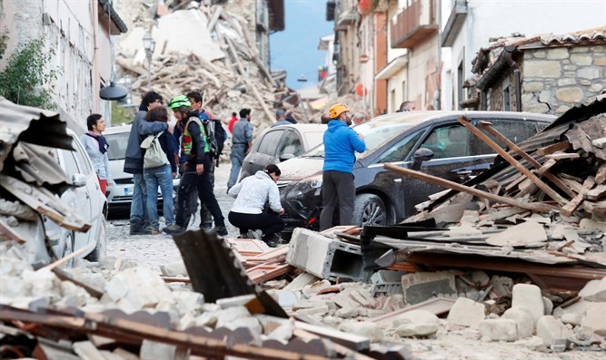 Aftermath of the earthquake in Amatrice, Italy