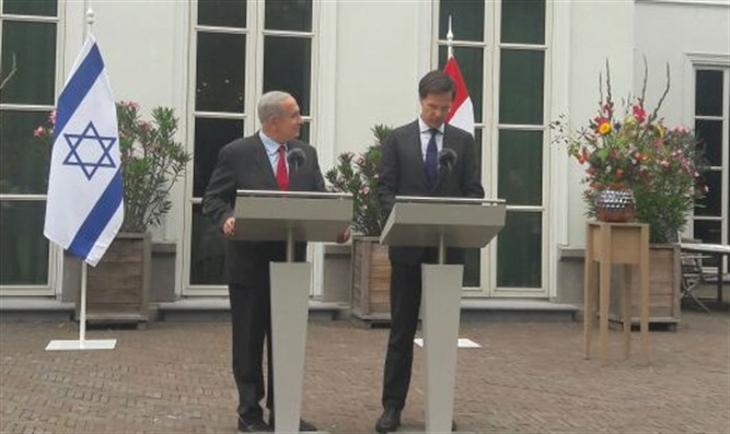 Netanyahu and Rutte in the Hague
