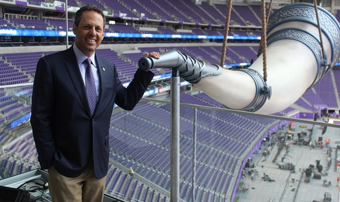 Mark Wilf at the Minnesota Vikings' new stadium