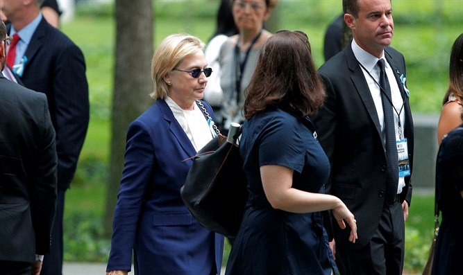 Clinton at 9/11 15th anniversary ceremony