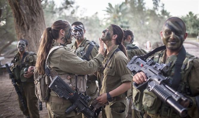 soldiers from mixed IDF battalion