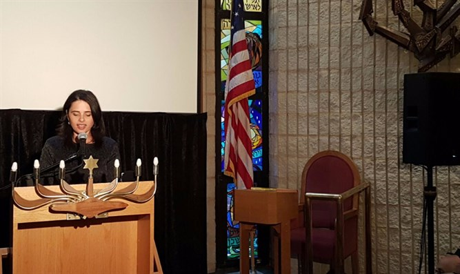 Ayelet Shaked speaks at Arutz Sheva event in NYC