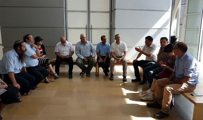 Heads of YESHA council at the Yitzchak Rabin Center