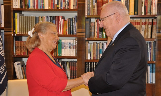 President Rivlin and Mrs. Carrer