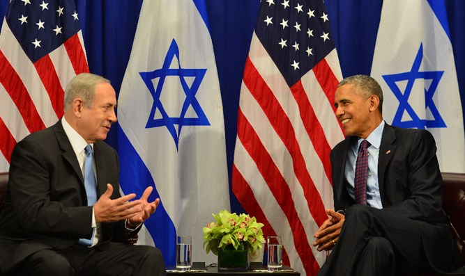 Prime Minister Netanyahu and President Obama in their meeting tonight