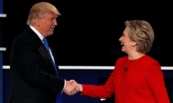 Trump and Clinton at the debate