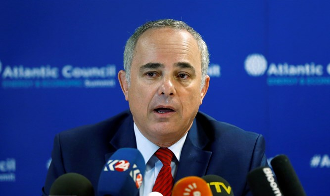 Energy Minister Yuval Steinitz attends news conference in Istanbul