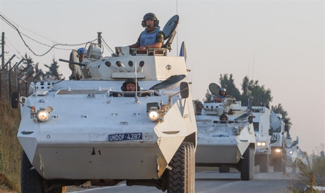 UNDOF peacekeepers in Golan Heights