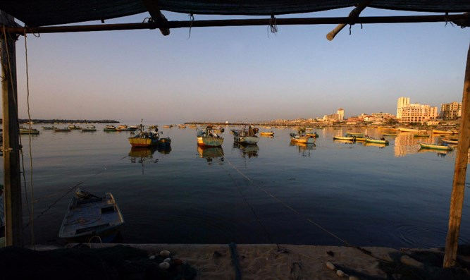 Fishing boats near Gaza