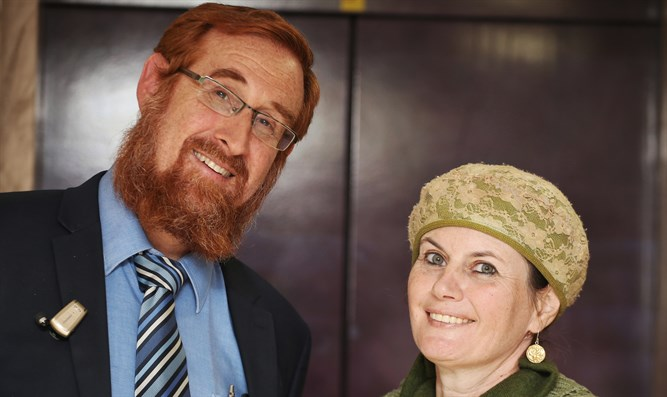 Yehuda Glick and his wife Yaffa