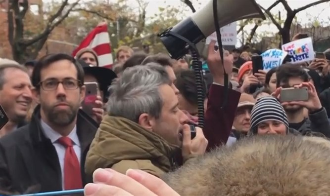 New Yorkers protest swastika defacing Adam Yauch Park