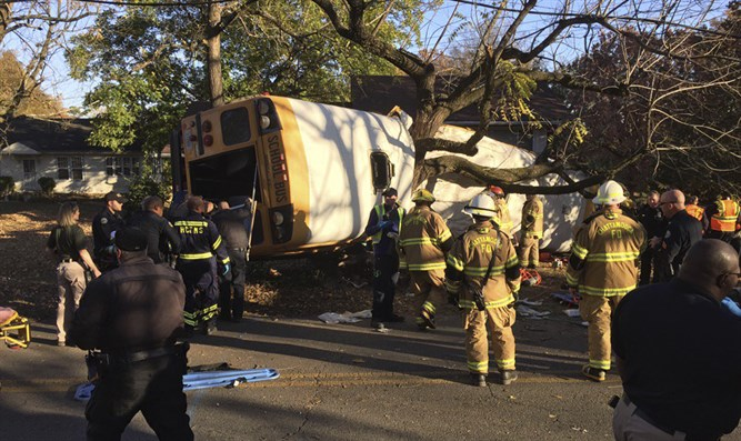 Scene of deadly school bus accident in Tennessee