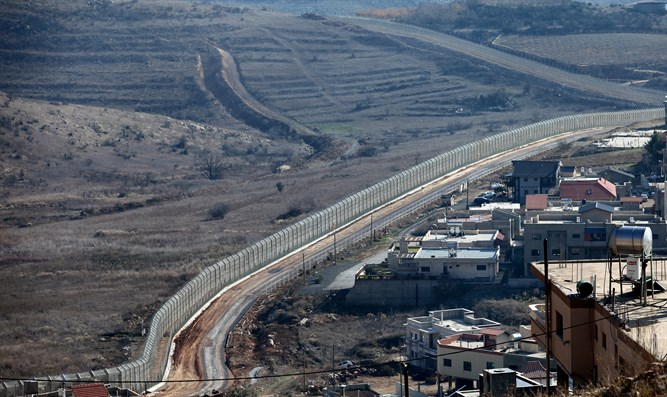 Border fence in the Golan Heights