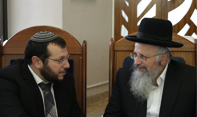 Rabbi Amichai Eliyahu with father Rabbi Shmuel Eliyahu