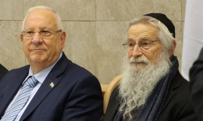 President Reuven Rivlin and Rabbi Zalman Melamed in Beit El