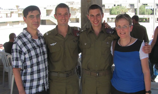 Hadar Goldin with his family