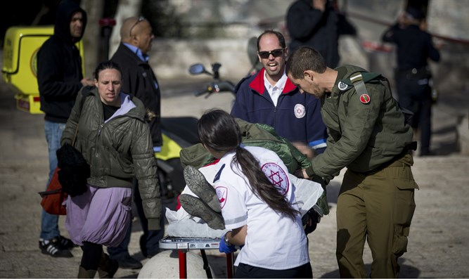 Scene of Jerusalem truck attack