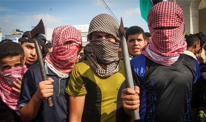 Gazans celebrate Jerusalem, Ra'anana attacks