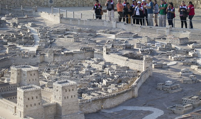 Model of Jerusalem at the Israel Museum in Jerusalem