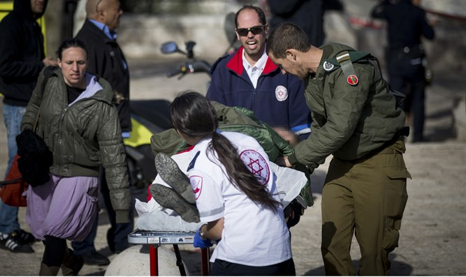 Soldier wounded in Armon Hanatziv attack evacuated