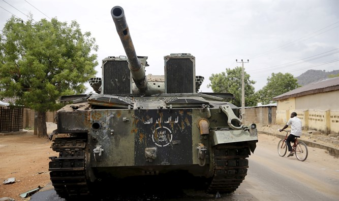 Boko Haram tank captured by Nigerian forces
