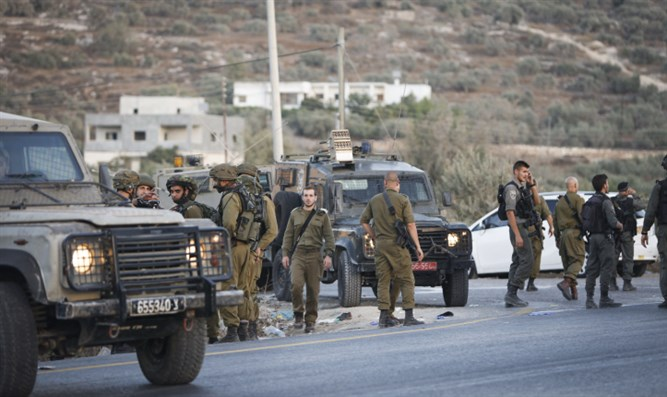 Border Police and soldiers in Samaria (archive)