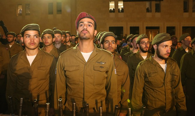 IDF's first Haredi paratrooper company sworn in