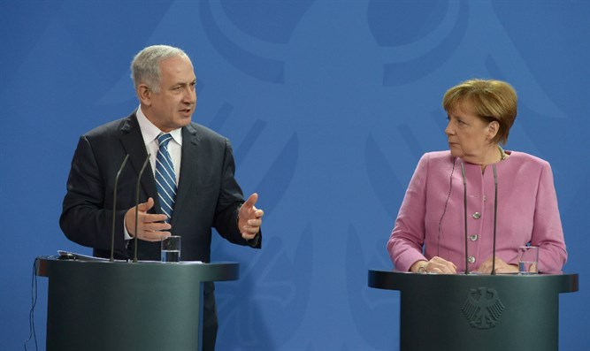 German Chancellor Angela Merkel and Binyamin Netanyahu