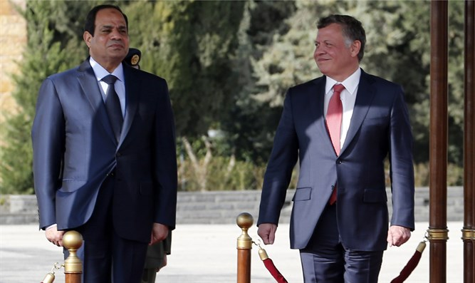 King Abdullah and Al-Sisi