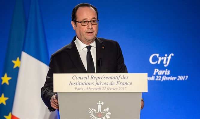 Hollande at the annual CRIF dinner