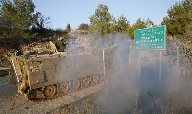 IDF force on Lebanese border