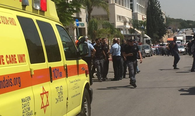 Scene of Rosh Ha'ayin stabbing