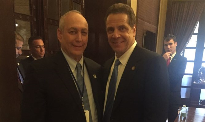 Andrew Cuomo and Chemi Peres