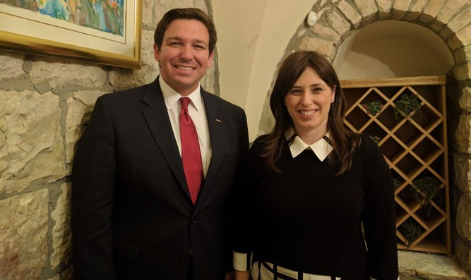 Chairman of the House Subcommittee on National Security Ron DeSantis with Dep. FM Hotovely