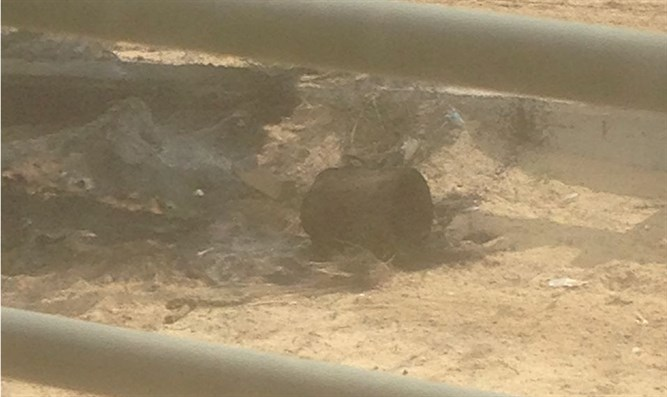 Defused explosive near Gaza border