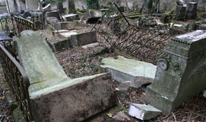 Desecrated Jewish graves at Bar-le-Duc, France