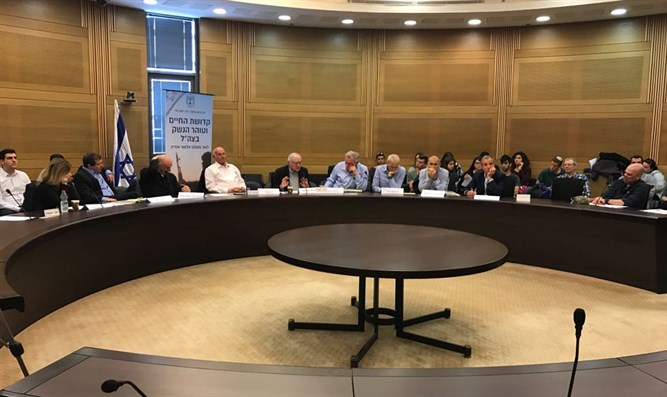 The meeting in the Knesset